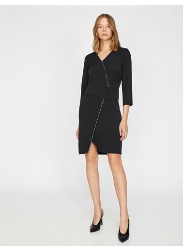 Koton V Yaka Elbise Siyah
